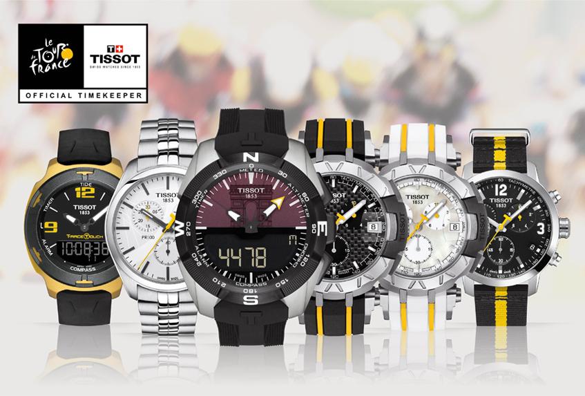Kolekcja zegarkowych klasyków na Tour de France.