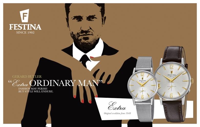 Elegancki, męski zegarek Festina F20252-2 na srebrnej bransolecie typu mesh. Stalowa koperta jest okrągła w srebrnym kolorze. Analogowa tarcza zegarka jest w srebrnym kolorze z złotymi wskazówkami jak i indeksami.