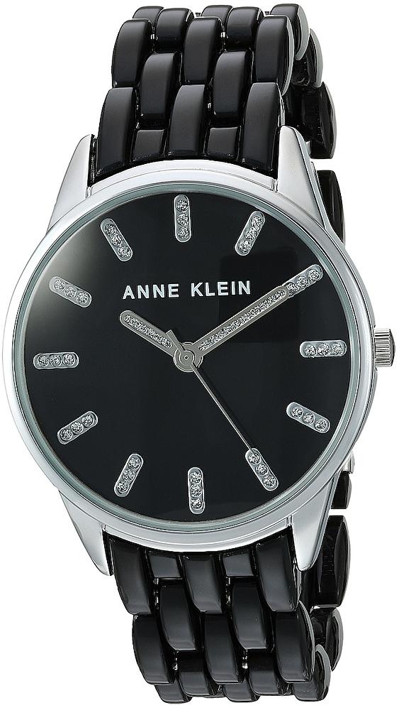 Anne Klein AK-2617BKSV - zegarek damski