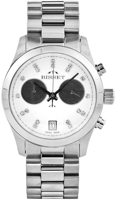 Bisset BSBE22SIWS05AX-POWYSTAWOWY - zegarek damski