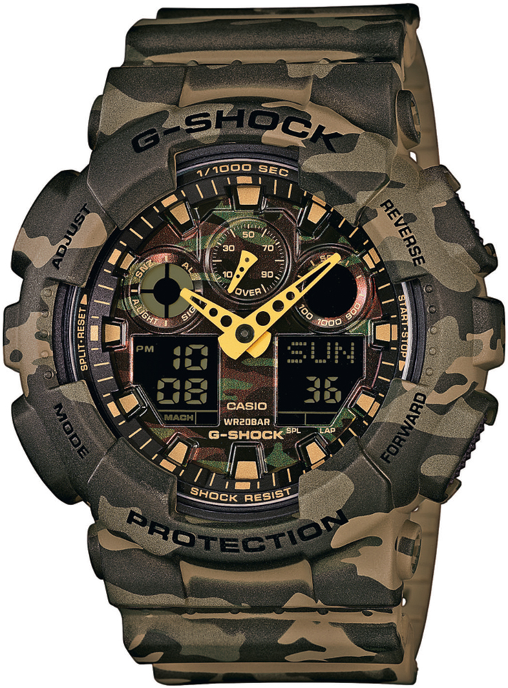 G-SHOCK GA-100CM-5AER - zegarek męski