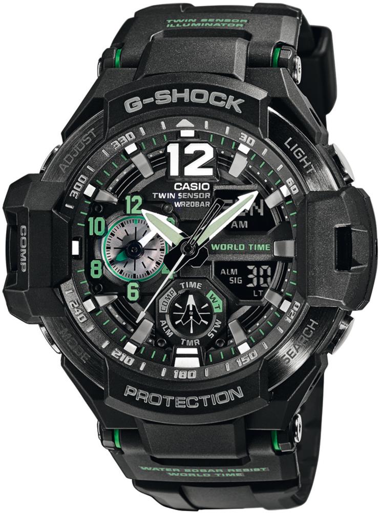 Casio G-SHOCK GA-1100-1A3ER-POWYSTAWOWY - zegarek męski
