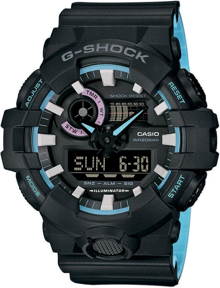 G-SHOCK GA-700PC-1AER-POWYSTAWOWY - zegarek męski