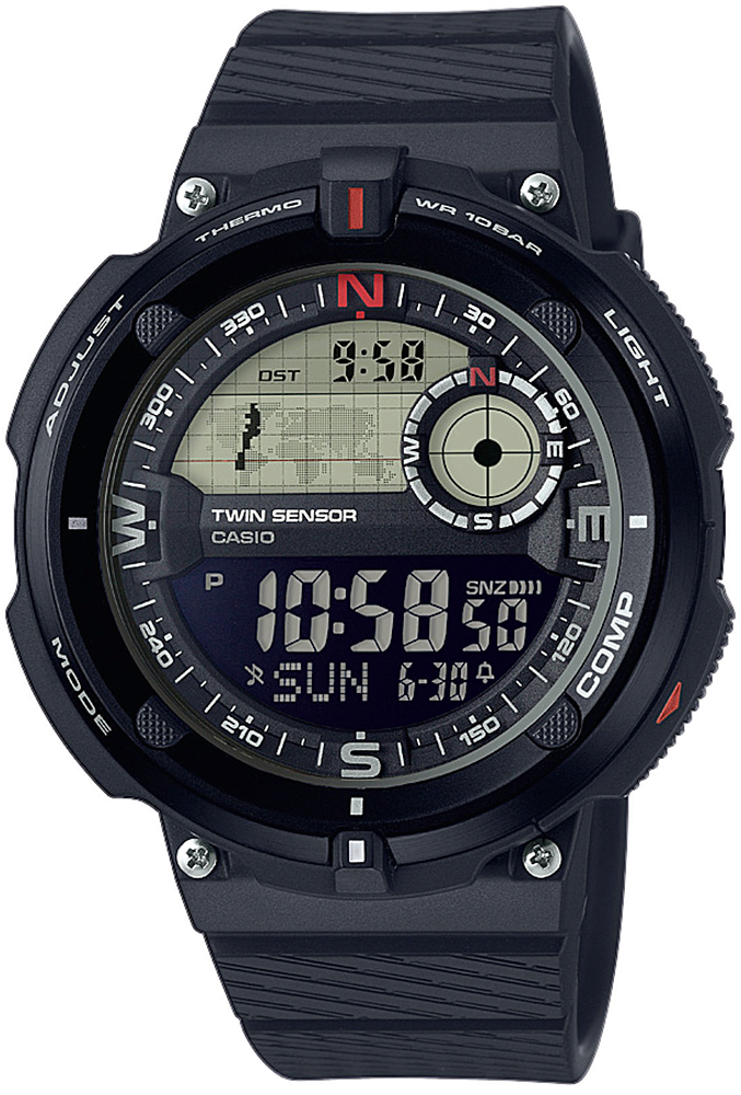 Casio SGW-600H-1BER - zegarek męski