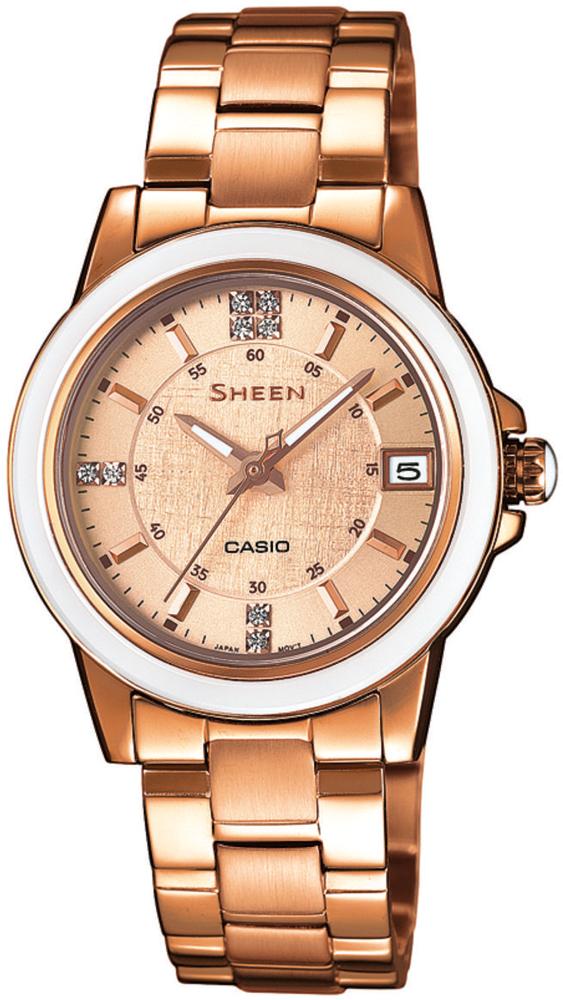 Casio Sheen SHE-4512PG-9AUER - zegarek damski
