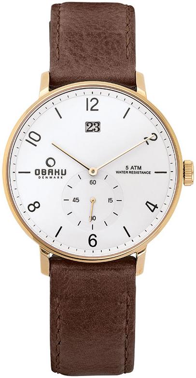 Obaku Denmark V190GDGWRN - zegarek męski