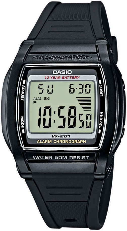 Casio W-201-1AVEF - zegarek męski