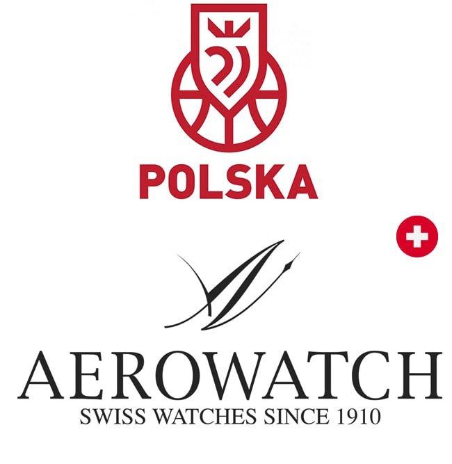 Logo Polskiej Koszykówki oraz Aerowatch.