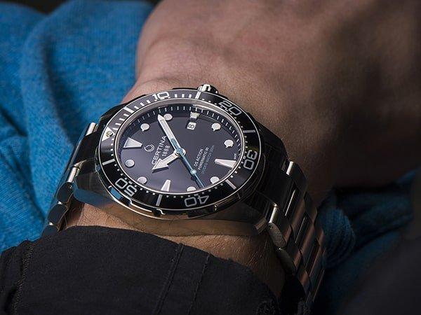 Automatyczny zegarek Certina na srebrnej bransolecie