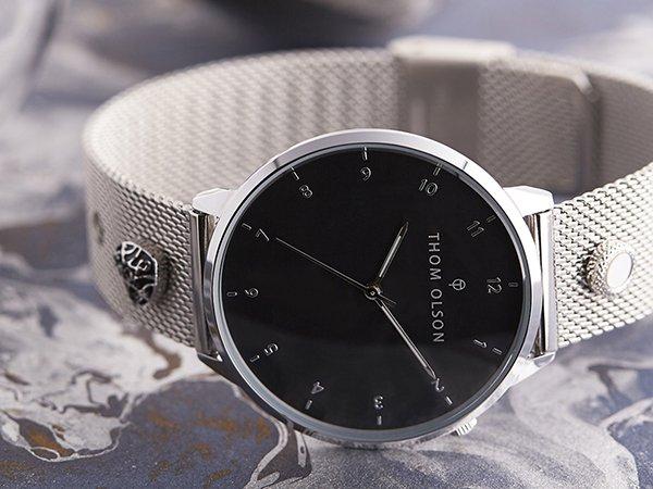 Oryginalność zegarków Thom Olson na bransolecie mesh