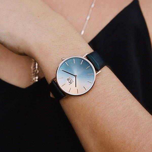Czarny skórzany pasek w zegarku Ice Watch