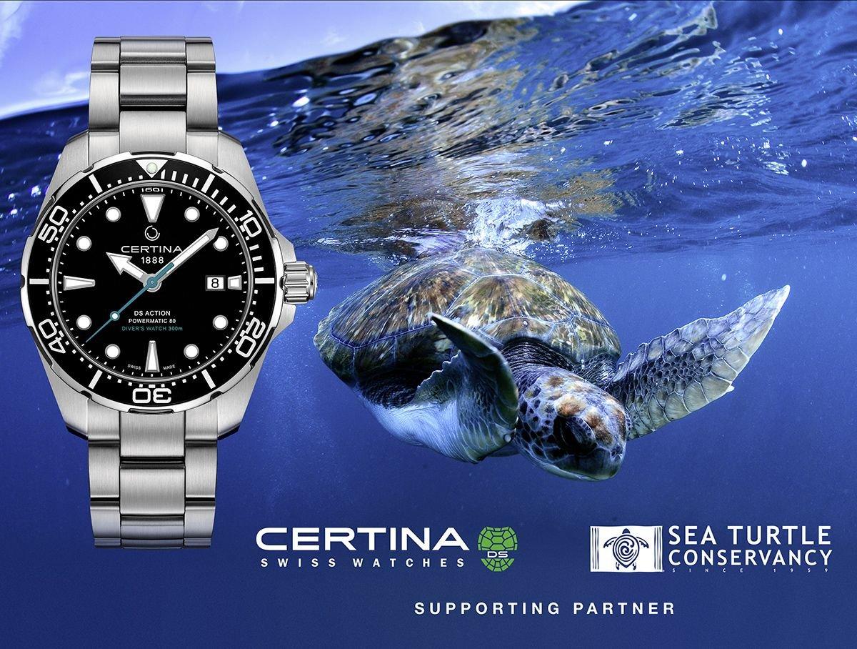Certina w akcji Sea Turtle Concervancy wspiera żółwie morskie
