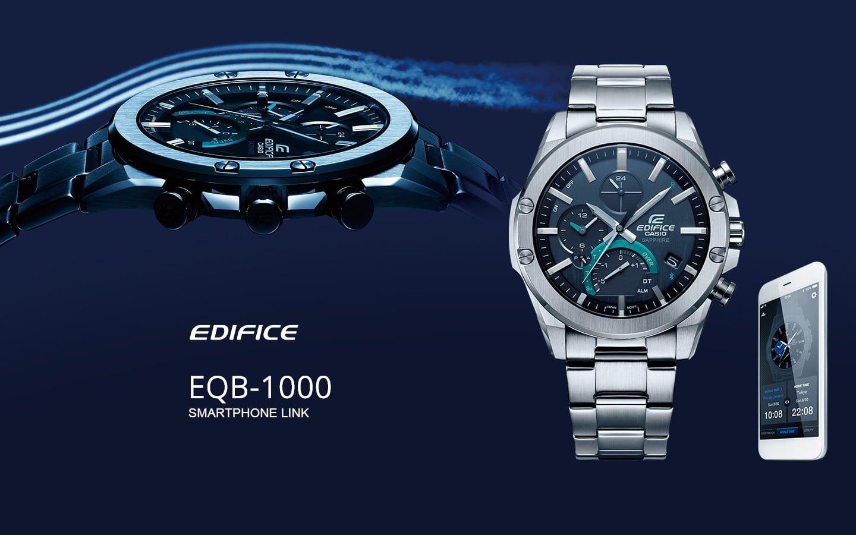 Meski zegarek Edifice slim z funkcją łączenia z telefonem.