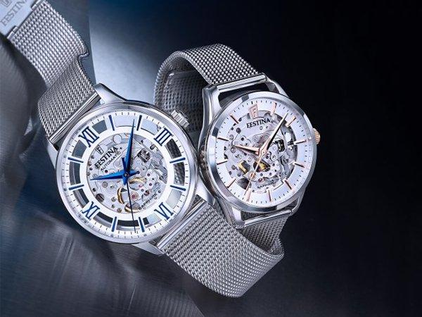 Oryginalne rozwiązanie w zegarek Festina Classic Automatic Skeleton