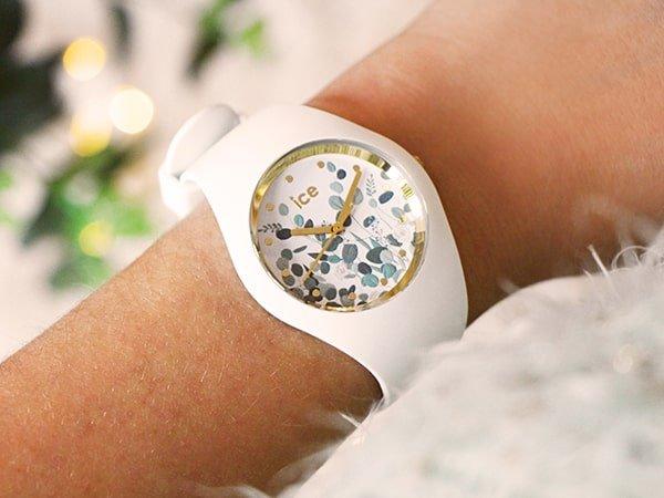 Zegarek Ice watch z wyjątkową tarcza w białym kolorze.