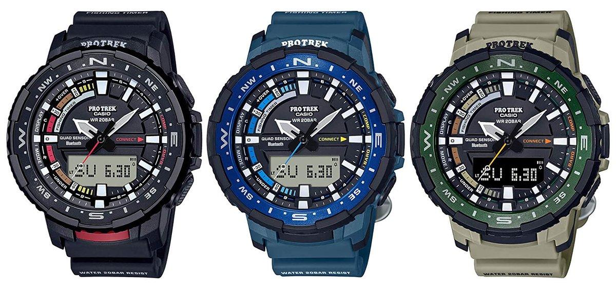 Idealne miejsce i idealny czas na połowy z funkcją FISH MEMO w zegarku Casio ProTrek