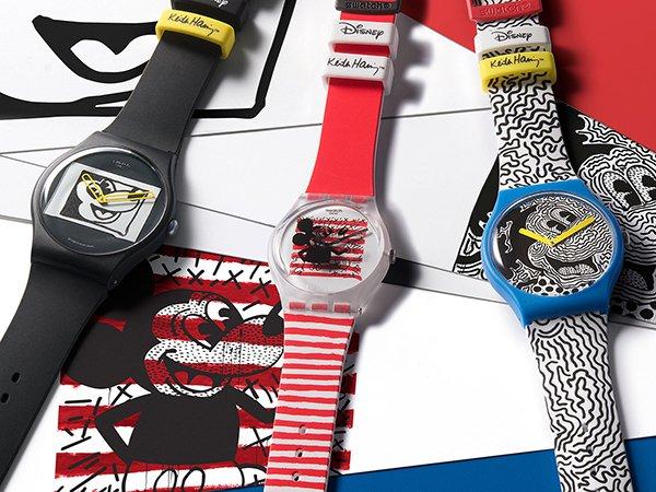 Zegarki Swatch z kultową Myszka Miky na tarczy!