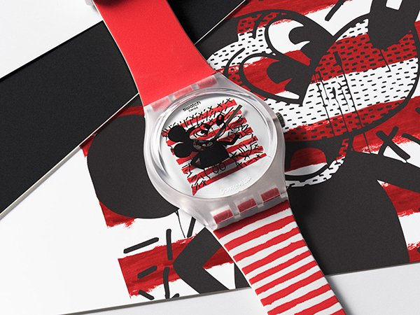 Budowa zegarków Swatch Disney Mickey Mouse x Keith Haring