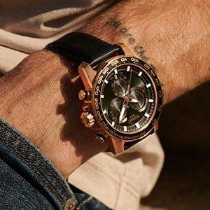 Zegarek Tissot z koperta w kolorze różowego złota