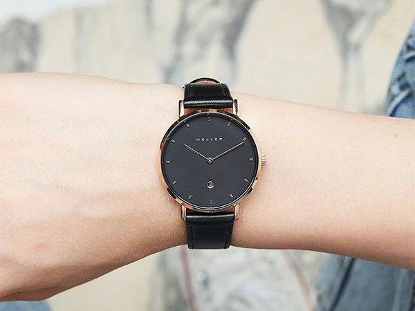 Klasyka czerni zegarka Meller Astar W1RN-1BLACK