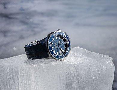 Test wytrzymałości pod lodem zegarka Davosa Argonautic BG
