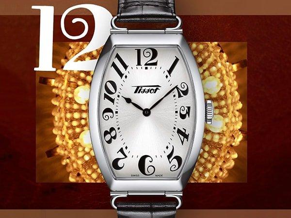 Elegancki zegarek Tissot w stylu vintage