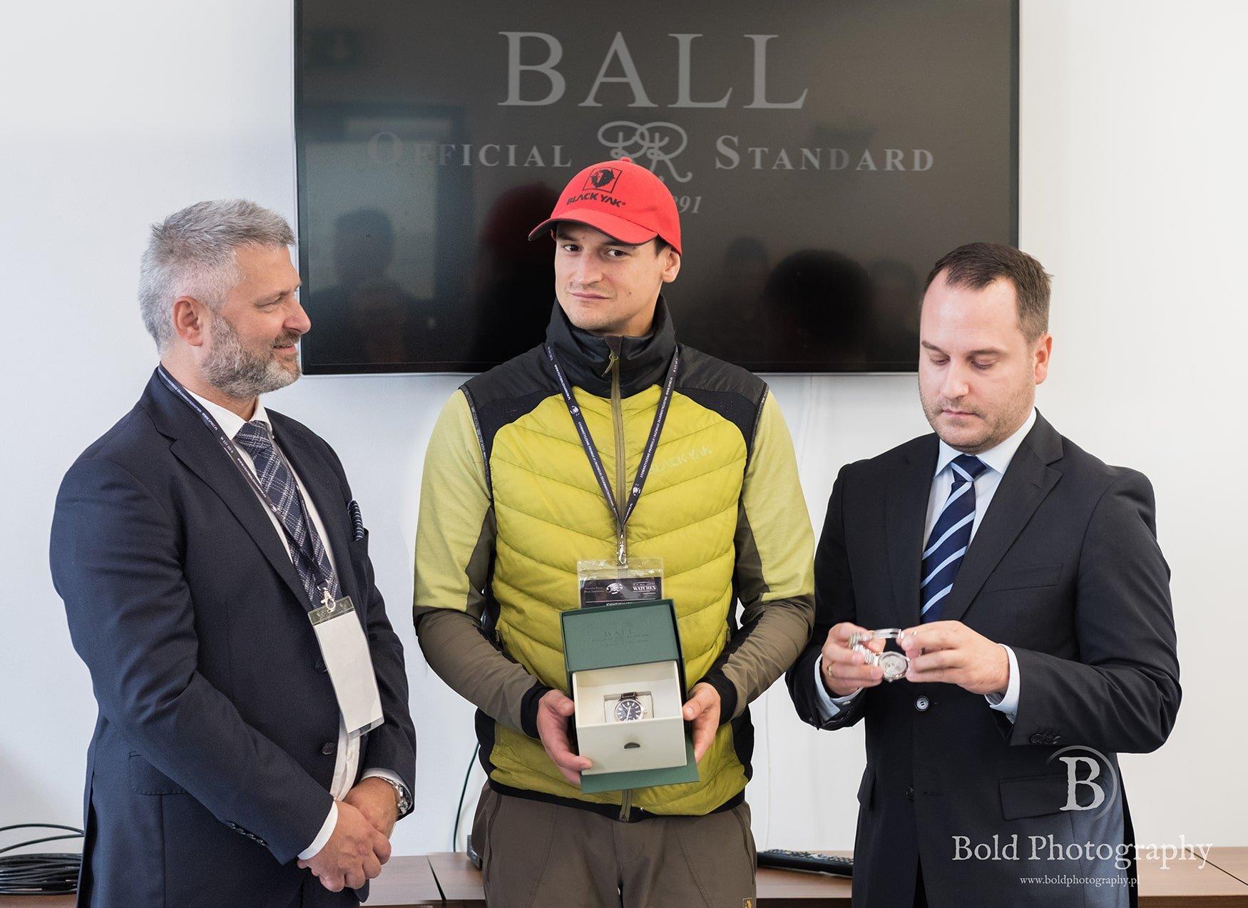 Nowy ambasador zegarków Ball Adam Bielecki.