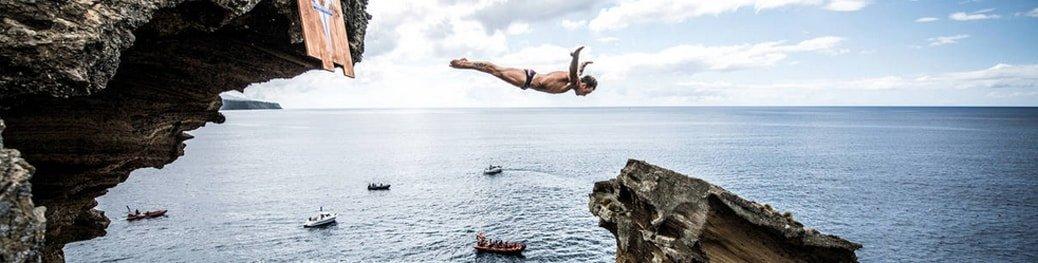 Alessandro De Rose zeszłoroczny zwycięzca zawodów w skokach do wody.