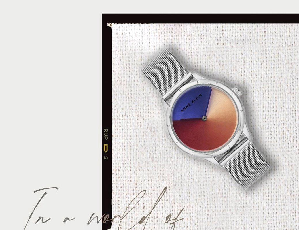 Tarcze zmieniające kolory w zegarkach Anne Klein