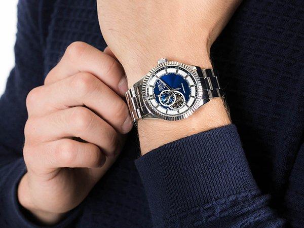 Stylowy zegarek Invicta na srebrnej bransolecie