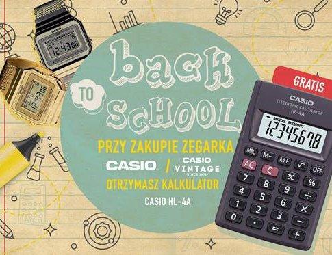 BACK to SCHOOL z zegarkami Casio! Odbierz podręczny kalkulator!