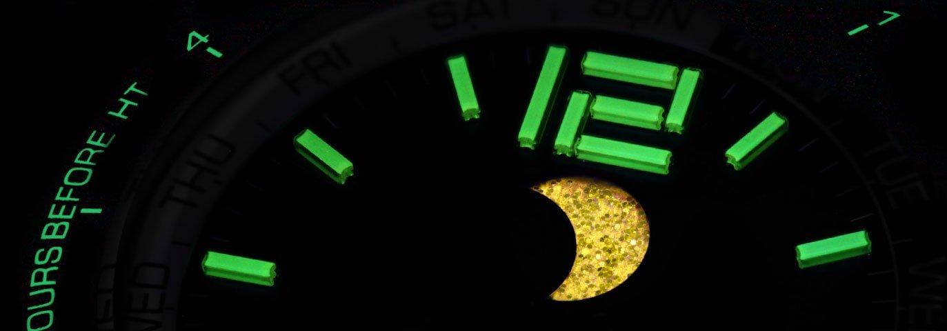 Trytowe oświetlenie w niesamowitym zegarku Ball.