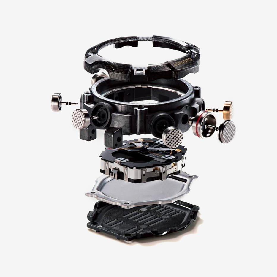 Mudmaster GG-B100 należący do linii zegarków G-SHOCK Carbon Core Guard z nowym typem konstrukcji.