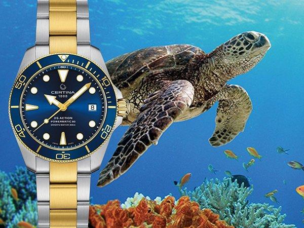 Certina DS Action Diver Sea Turtle Conservancy: Zobowiązanie pod znakiem żółwia