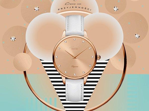 Doskonałe wykonanie damskiego zegarka Atlantic