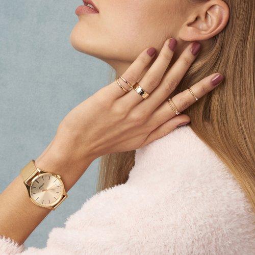 Damski zegarek Casio Instashape LTP-E140G-9AEF w pięknym, złotym kolorze.