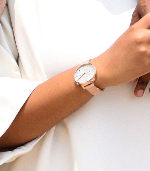 Damski zegarek Pulsar na różowym pasku