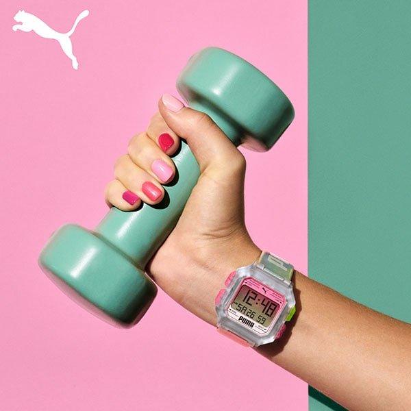 Cyfrowy zegarek puma na pasku idealny dla niej