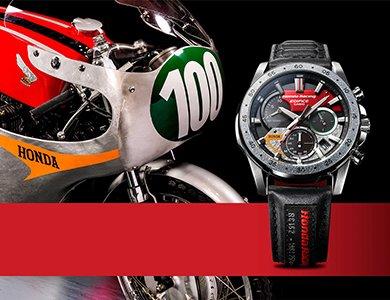 Nowy zegarek Casio Edifice zainspirowany legendarnym motocyklem Honda RC162