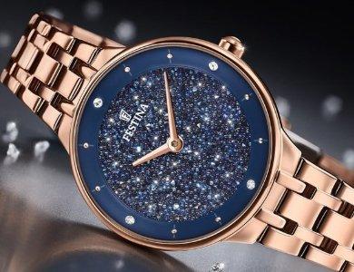 Damskie zegarki Festina Mademoiselle z kryształkami Swarovski