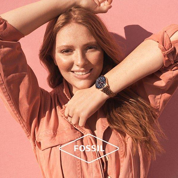 Kobiecość z damskim zegarkiem Fossil