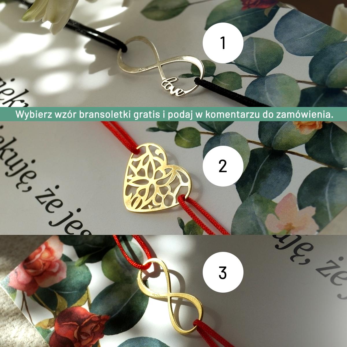 3 bransoletki do wyboru na prezent