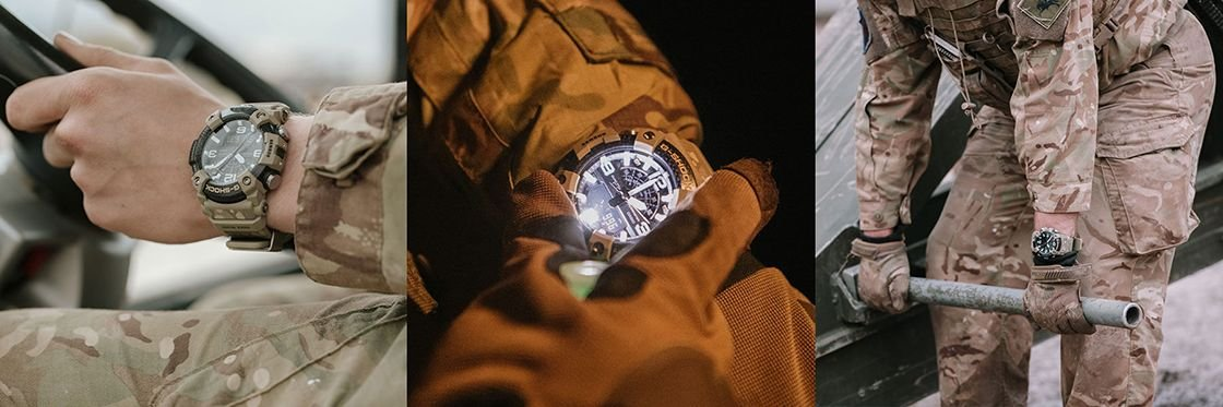 Szerokoa funkcjonalnosć zegarka Mudmaster GG-B100BA-1AER British Army