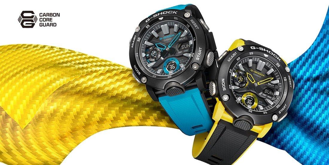 Zegarki G-SHOCK wzmocniony karbonem.