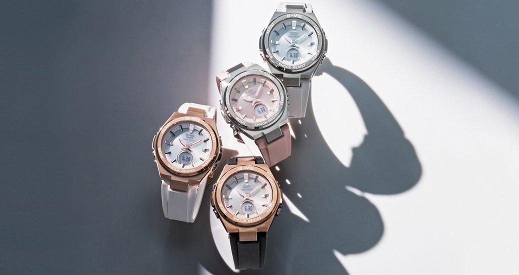 Niezwykle atrakcyjna kolekcja solarnych zegarków Casio G-MS Metal Bezel.