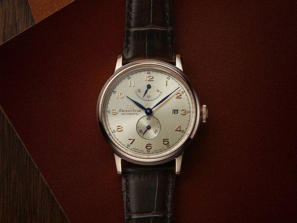 Elegancki zegarek Orient Sar na skórzanym pasku