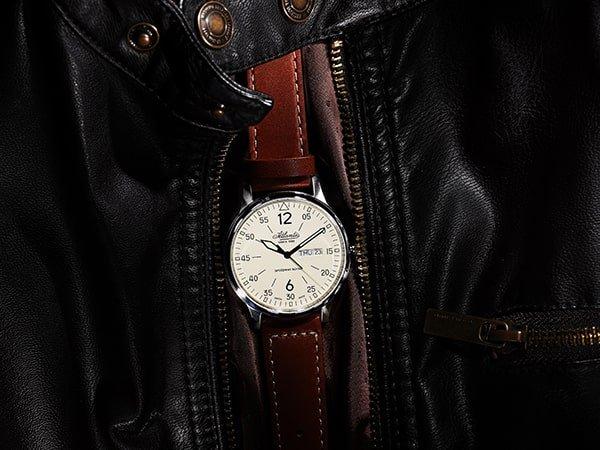 Zegarki Atlantic z skórzanym paskiem
