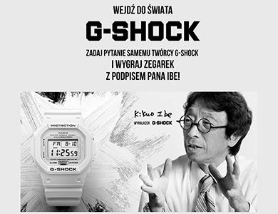 Zadaj pytanie Kikuo Ibe i zgarnij G-SHOCK z autografem!