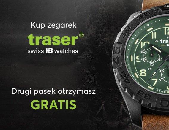 Kup zegarek Traser. Drugi pasek otrzymasz gratis.