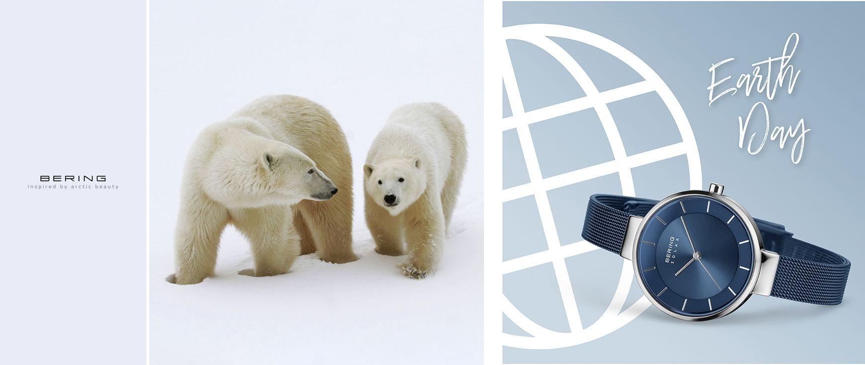 Kupując zegarek Bering pomagasz ratować niedźwiedzie polarne.